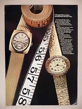 Christian Dior Watch Collection by Bulova PRINT AD - 1969 ~ wristwatch