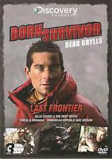 BORN SURVIVOR BEAR GRYLLS LAST FRONTIER - 3 DVD BOX SET - BAJA DESERT & MORE