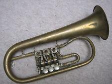 "old rotary Bb (?) Flugelhorn by ""Cerveny"" adjustable trigger, missing leadpipe"