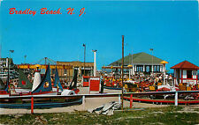 Kiddie Rides on Boardwalk ~BRADLEY BEACH NJ~ Vibrant & Scarce View, c. 1955