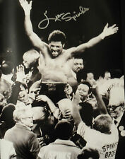 LEON SPINKS Signed In Person 16x12 Photo BOXING World Champion  COA