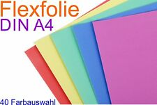 DIN A4 Flexfolie Plotterfolie Bastelfolie Folie Textil T-Shirt Druck Bügelfolie