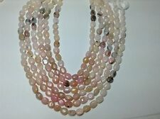 """NATURAL PINK PERUVIAN OPAL OVAL SMOOTH BEADS  7X9MM 14"""""""