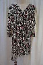 Laundry by Shelli Segal Dress Sz 6 Paradise Black White Multi Business Casual
