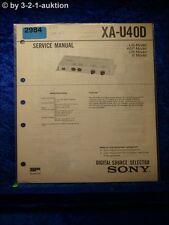 Sony Service Manual XA U40D Digital Source Selector (#2984)