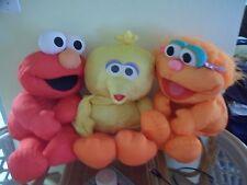 "vtg Lot 3 26"" 1995 tyco JIM HENSON Big Bird Elmo & ZOE Sesame Street Puffer Toys"