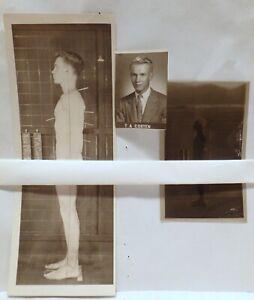 MEDICAL SCIENCE YALE UNIVERSITY IVY LEAGUE SCANDAL POSTURE PHOTO & NEG MALE 1946