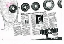Publicité Advertising 1979 (2 pages) Appareil photo Objectif Olympus