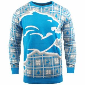 NFL Ugly Sweater XMAS Knit Pullover - Detroit Lions