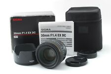 Sigma 30mm f/1.4 EX DC Lens for Sony Minolta w/Box [Excellent++] free shipping