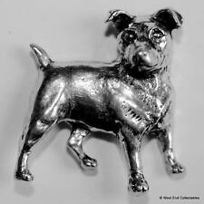 Jack Russell Pewter Pin Brooch -British Hand Crafted- Hunting Parson Terrier Dog