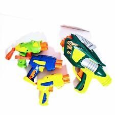 Lot of 4 Buzz Bee Air Warriors Soft Dart Guns Tek 6 And 3 Mini Guns