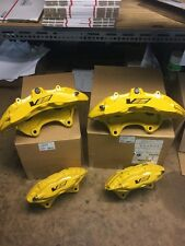Full Set New GM CTS-V CTSV Yellow 6 Piston Front 4 Piston Rear Calipers Cadillac