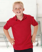 Boys' Cotton Blend No Pattern Polo T-Shirts, Tops & Shirts (2-16 Years)