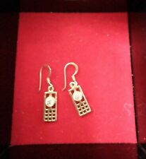 "Dainty Rennie Macintosh style 925 silver drop earrings, appox 3/4""drop with hook"