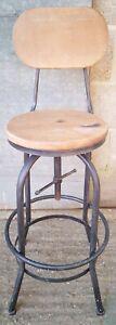 Industrial Retro Style Metal Breakfast Bar Chair Swivel Stool