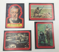 Lot of 4 1977 Topps Star Wars Series 2 Stickers (Red) - #13,17,18,20 Read Desc