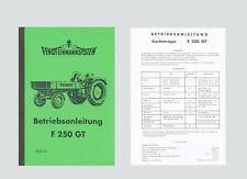 FENDT Geräteträger F 250 GT   Betriebsanleitung Schlepper