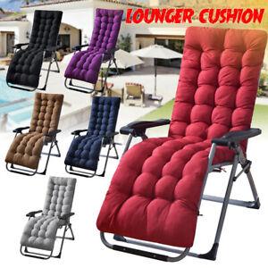 Deck Lounge Chair Cushion Soft Seat Patio Cushion Covers Seat Pad Recliner Mat