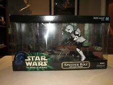 """Star Wars POTF The Power of the Force Speeder Bike with Scout Trooper 12"""" - 2000"""