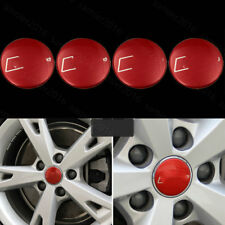 4pcs Red Steel Fit For Audi A4 B9 17-2018 Wheel Center Hub Ring Adorn Cover Trim