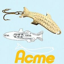 NEW Acme Phoebe 1/12 oz. 2.5 g GOLD Hydrodynamic Curved Fishing Lure Spoon