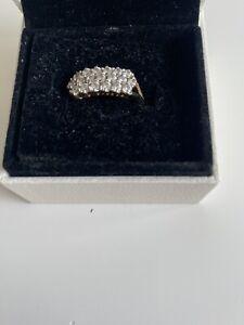 9ct Gold Ring Ladies Stone Unknown Hallmarked