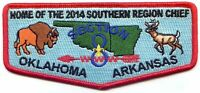 Boy Scout OA Section 8 Flap Home of the 2014 Southern Region Chief Ma-Nu 133