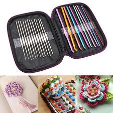Wool Crochet Kit Sweater Weaving Tools Aluminum Alloy Needle Crochet 22Pcs/Set