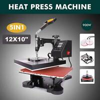 "12"" x 10"" 5 in 1 Combo T-Shirt Heat Press Machine Sublimation Swing Away"
