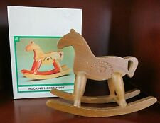 Applause Vintage Wooden ROCKING HORSE 1986 Teddy Bear Story #19077 NOS