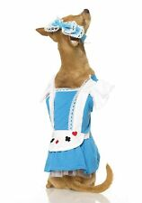 Alice Wonderland Fairy Tale Storybook Fancy Dress Halloween Dog Cat Pet Costume