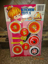 Vintage KITCHEN TOOLS by Louis Greenberg Child Size Dishes Lot New on Card Tiger