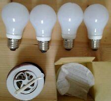 4 Low Energy Std Screw Bulbs + CSW Chrome Shower waste - 9w CFL E27 240V ES