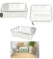 Large Dish Drainer Coated Metal Wire & Cutlery Draining Holder Sink Plate Rack