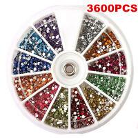 1.5mm 3600pcs Nail Art 3D DIY Glitter Rhinestones For UV Gel Acrylic Decoration