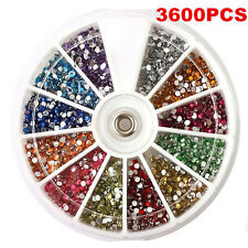 1.5mm 3600pcs Nail Art 3D DIY Glitter Rhinestones For UV Gel Acrylic Decoration
