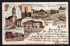 81620 AK Fürstenwalde Spree 1899 Litho Kaserne Kirchstraße Dom Kaiserplatz Gymna