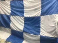 Große Banner Flagge Napoli Schach 260x160 Ca Stärke Blau