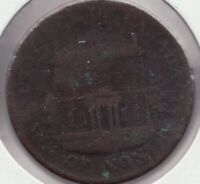 1844 - Prov. of Canada - Bank of Montreal - ½ Penny - Superfleas - PC-1B5