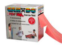 CanDo Latex Free Exercise Band - 100 yard Perf 100 roll - Red - light