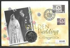 1997 Royal Golden Wedding Mercury PNC cover with Australia 50c coin.
