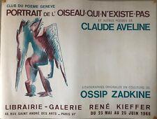 OSSIP ZADKINE PORTRAIT DE L'OISEAU QUI N'EXISTE PAS  1966