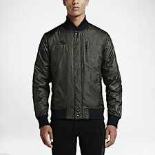 Nike Air Padded Varsity Men's Jacket Deep Pewter/ Blk MEN'S SZ S NEW 685963 211