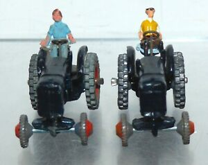 FV29 Britains Lilliput Tractors (2) with an original driver