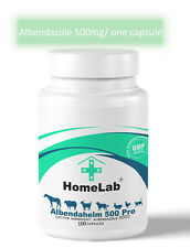 100 capsules Albendahelm 500 Dewormer For Dogs Anthelmintic Panacur Tapeworm