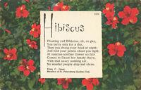 Postcard Hibiscus Poem