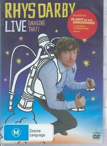 RHYS DARBY Live - Imagine That! DVD (Flight Of The Conchords) NEW & SEALED
