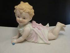 ANDREA BISQUE PORCELAIN PIANO BABY DOLL FIGURINE 23/542