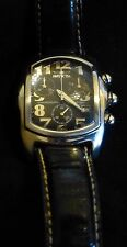Men's Invicta Lupah Swiss Made  Chronograph Black Face and Ostrich Band Quartz